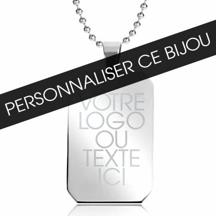 Stainless steel Vierge à personnaliser rectangles necklace