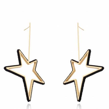 Star Earring Black