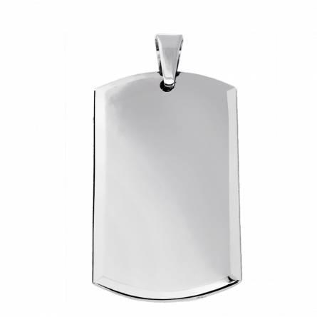 Tungsten  2 photo rectangles pendant