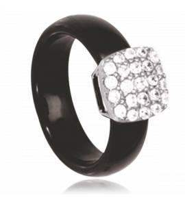 Woman ceramic Aruna black ring