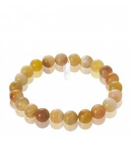 Woman elastic Désir beaded yellow bracelet