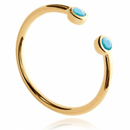 Woman gold plated Aïssa yellow ring