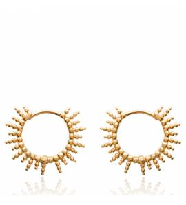 Woman gold plated Abraham creoles earring