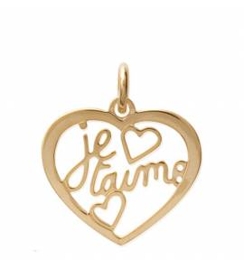 Woman gold plated Aran hearts pendant