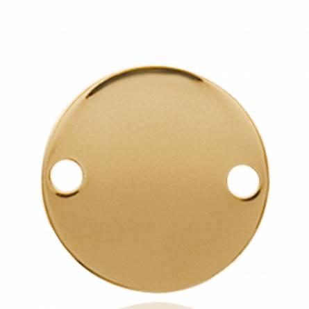 Woman gold plated Ayomide circular pendant