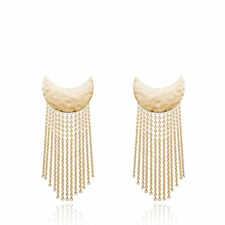 Woman gold plated Babette earring