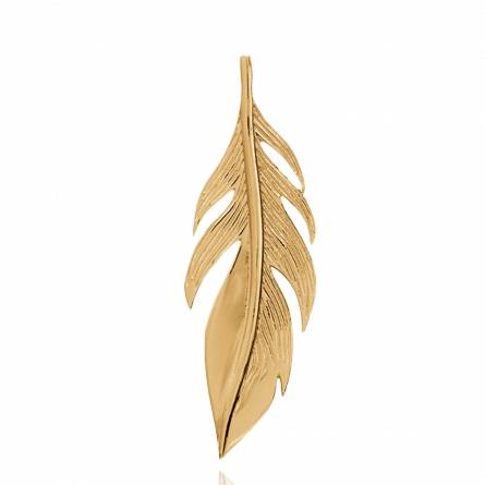 Woman gold plated Callie pendant