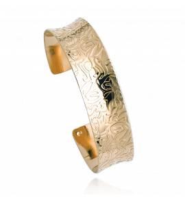 Woman gold plated Chikako bracelet