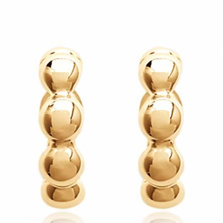 Woman gold plated circular earring