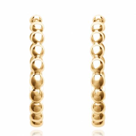Woman gold plated circular earring