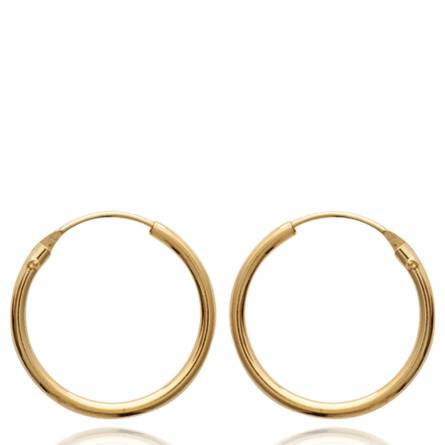 Woman gold plated Classique 1.8 cm creoles earring