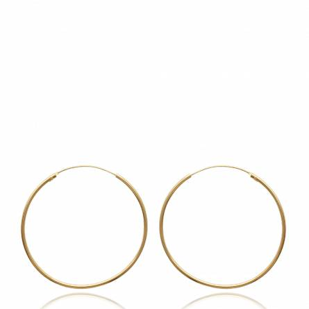 Woman gold plated Classique 4.5 cm circular earring