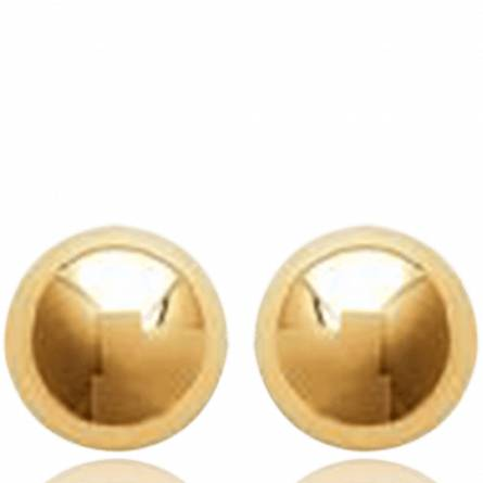 Woman gold plated Dafna earring