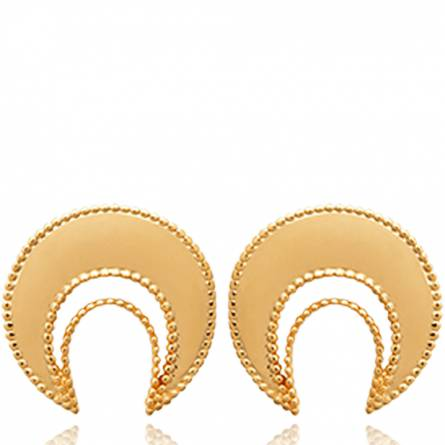 Woman gold plated Dalia earring