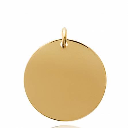 Woman gold plated Ecu vienne circular pendant
