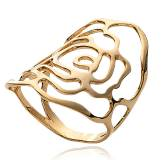 Woman gold plated Expression ring