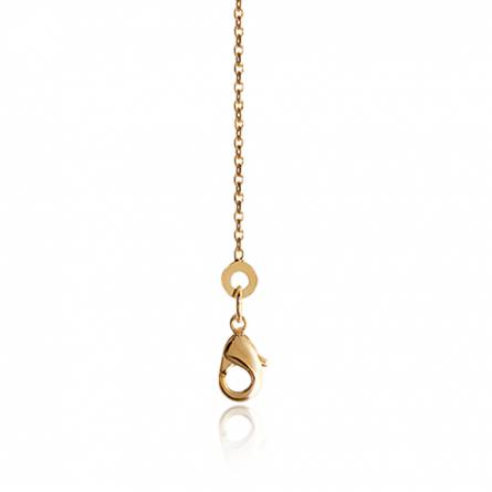 Woman gold plated forcat chains