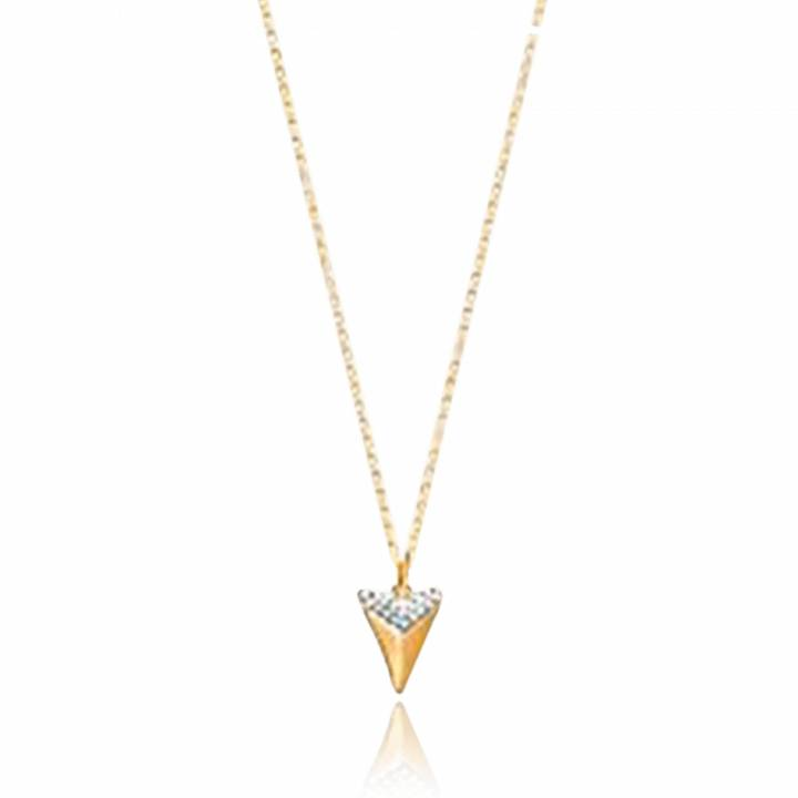 grand assortiment nouvelles images de magasin en ligne Woman gold plated Habacuc triangles necklace