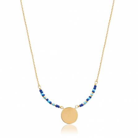 Woman gold plated Hania blue necklace
