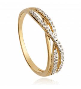 Woman gold plated Lignée dulce ring