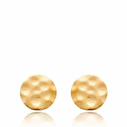Woman gold plated MAXIME circular earring
