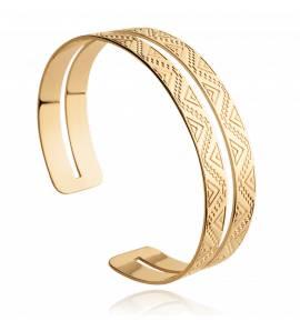 Woman gold plated Myrtilla yellow bracelet