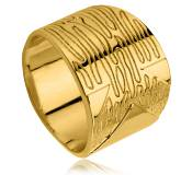 Woman gold plated Omiay ring