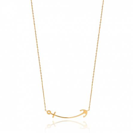 Woman gold plated Racilia necklace