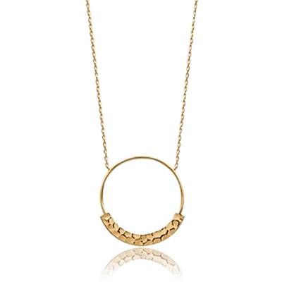 Woman gold plated Radegonde necklace