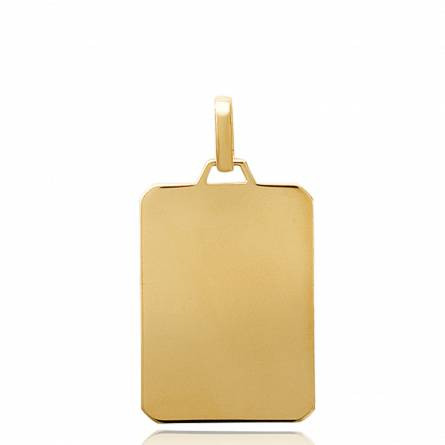 Woman gold plated Stelle dublin rectangles pendant