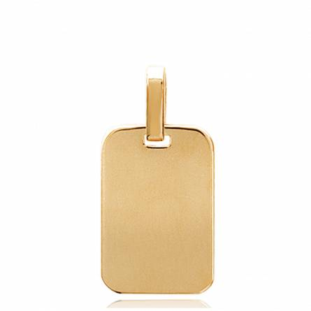 Woman gold plated Stelle geneve rectangles pendant