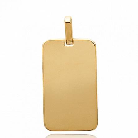 Woman gold plated Stelle vaduz rectangles pendant