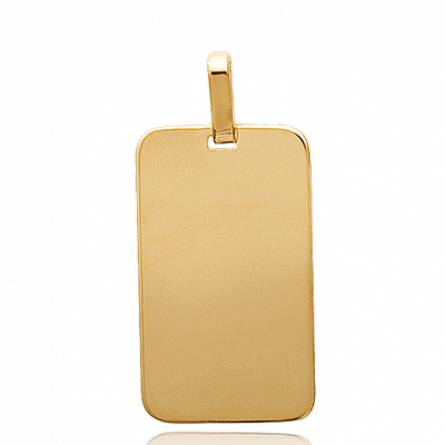 Woman gold plated Stelle vaduz rectangles pendant