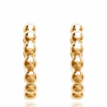 Woman gold plated Valentia circular earring