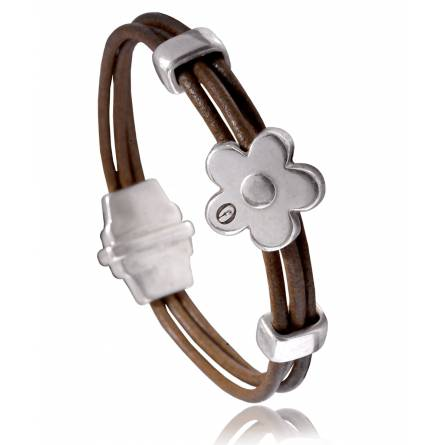 Woman leather Dolomiti  brown bracelet