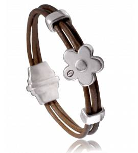 Woman leather Dolomiti  brown bracelet