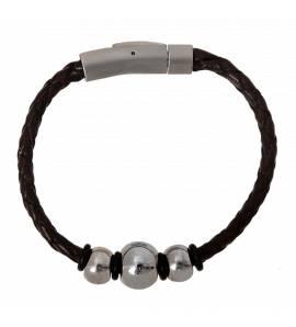 Woman leather Inspiration black bracelet