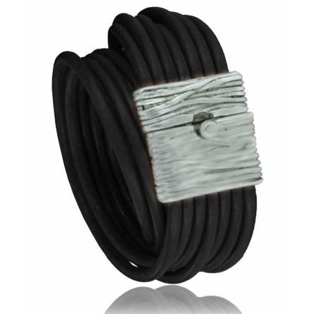 Woman leather Recoleta  black bracelet