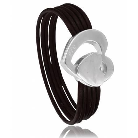 Woman leather Reta  brown bracelet