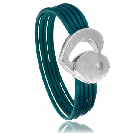 Woman leather Reta  turquoise bracelet