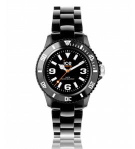 Woman plastic Ice Solide black watch