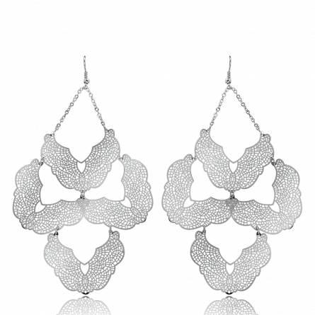 Woman rhodium alloy Maratys lace earring