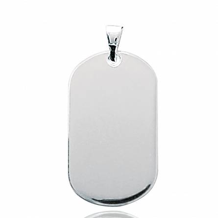 Woman silver 7 rounded pendant