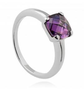Woman silver Abegail purple ring
