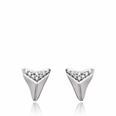 Woman silver Adelphe triangles earring