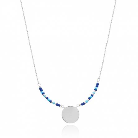 Woman silver Adrienne blue necklace