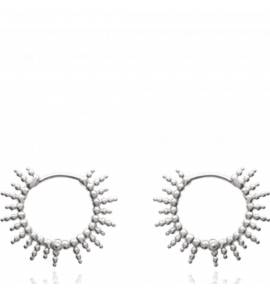 Woman silver Agrippine circular earring