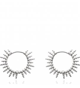 Woman silver Agrippine creoles earring