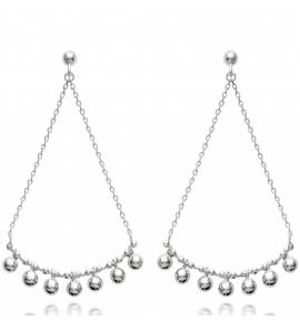 Woman silver Aimable earring