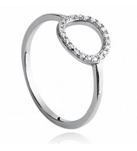 Woman silver Akilah circular ring